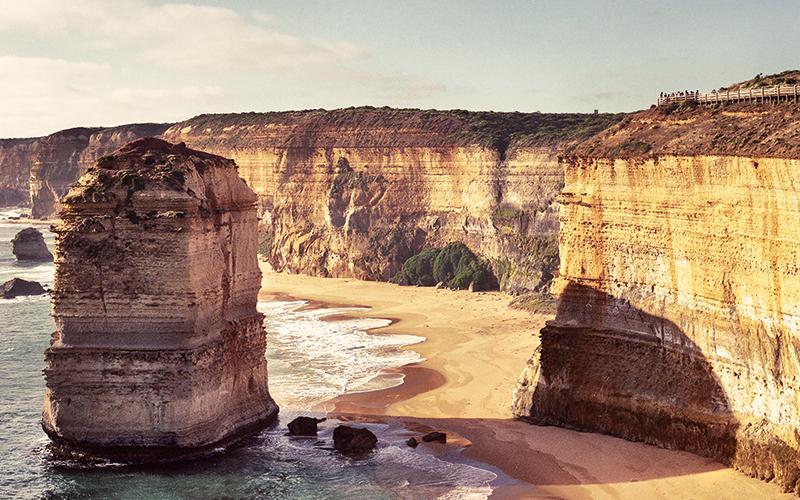 Large rocks at the coast