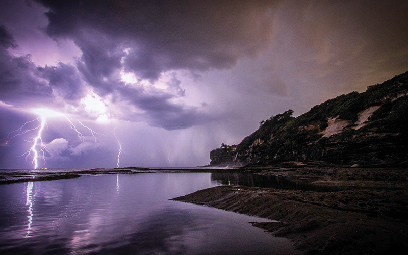 Stormy weather on the coast