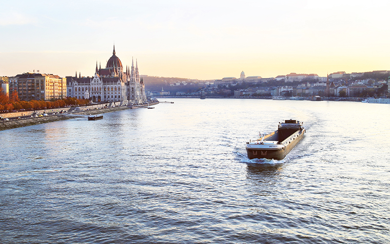 Large boat in Budapest