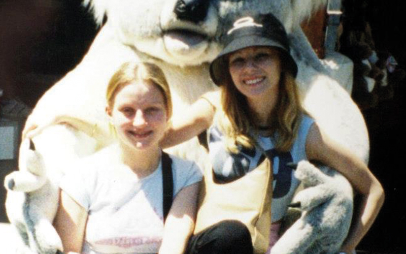 Caroline Stuttle and friend photo in koala