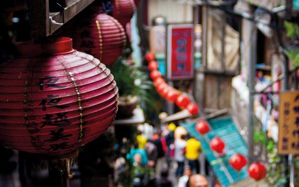 Chinese lanterns closeup