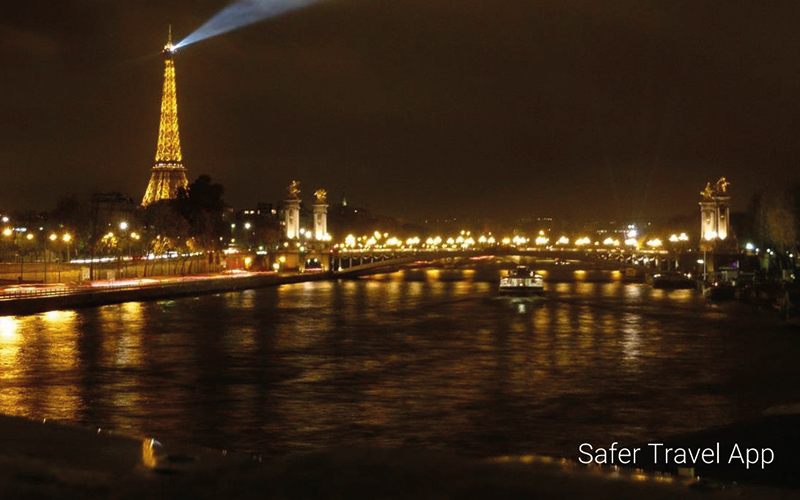 Paris at night Eiffel Tower