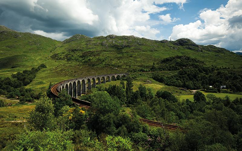 Railway bridge in Scotland