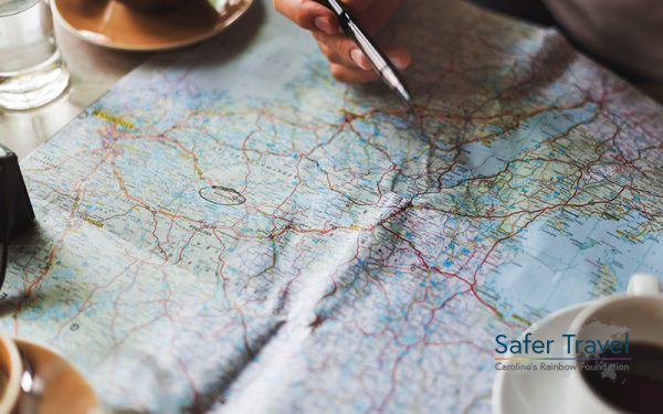 Writing on a map