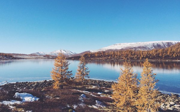 Russian wilderness and lake