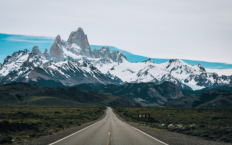 Mountain road South America