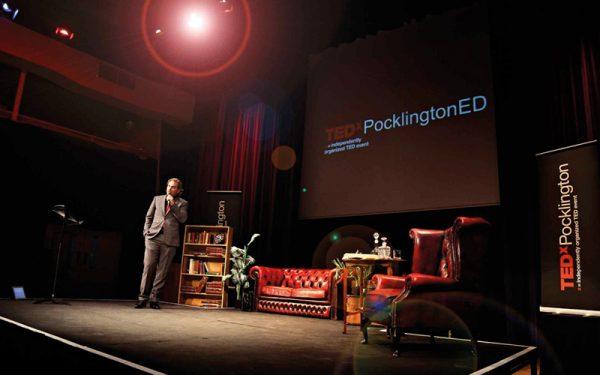 Richard Stuttle giving a TEDx talk