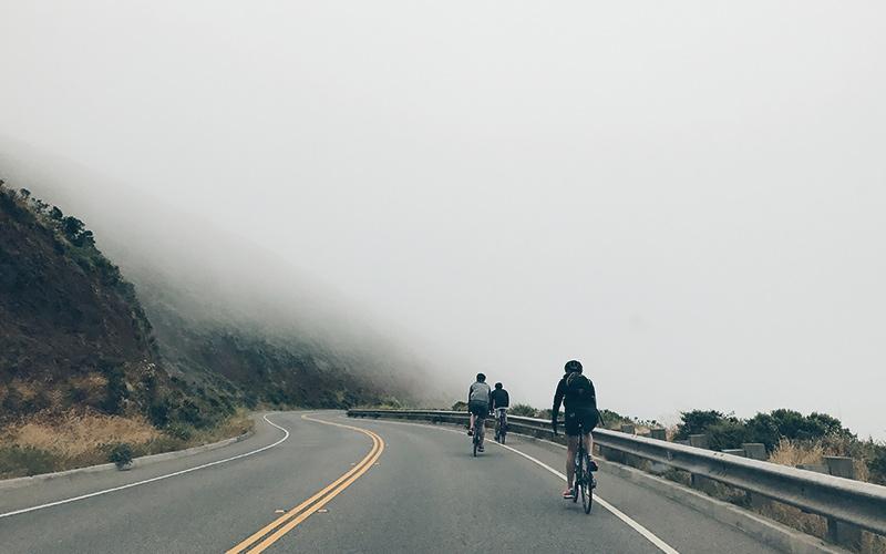 Biking on windy roads