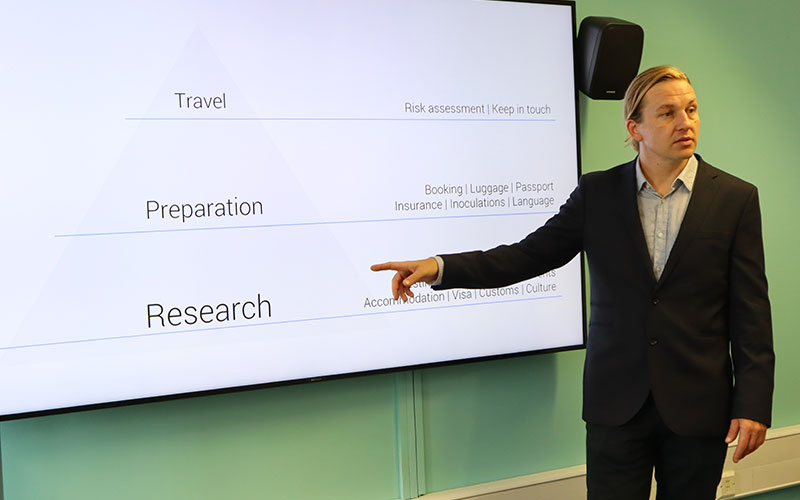 Richard Stuttle on research, preparation and travel