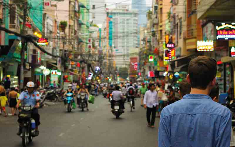 More busy streets in Vietnam