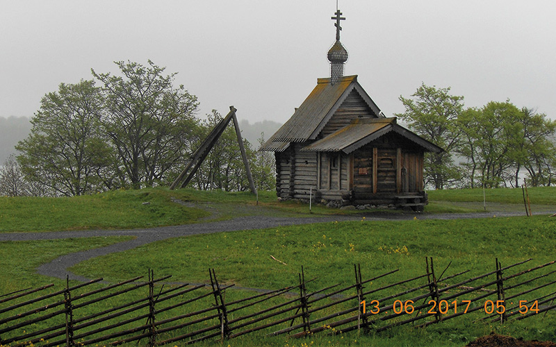 Old wooden church building
