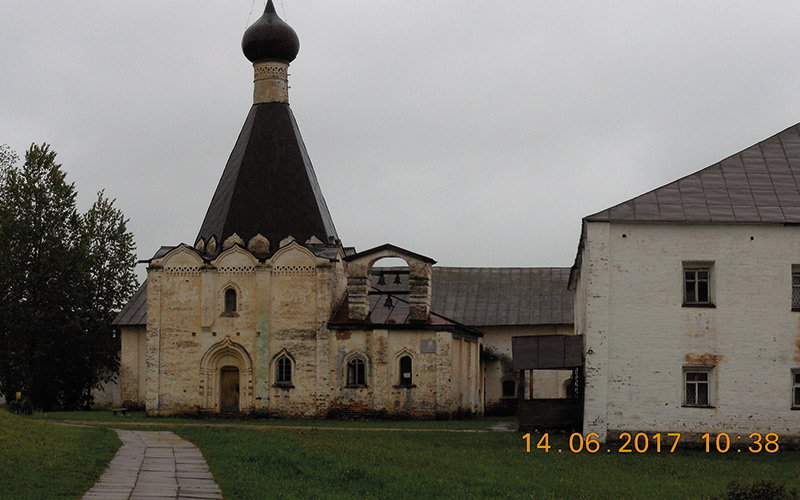 Old building with brown roof