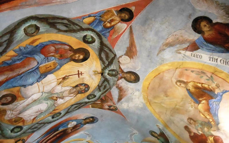 Painting of Jesus and angels