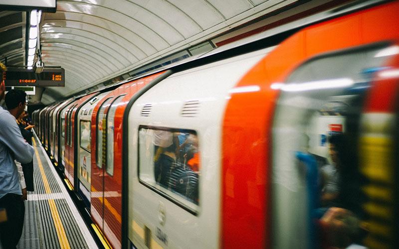Train in London underground