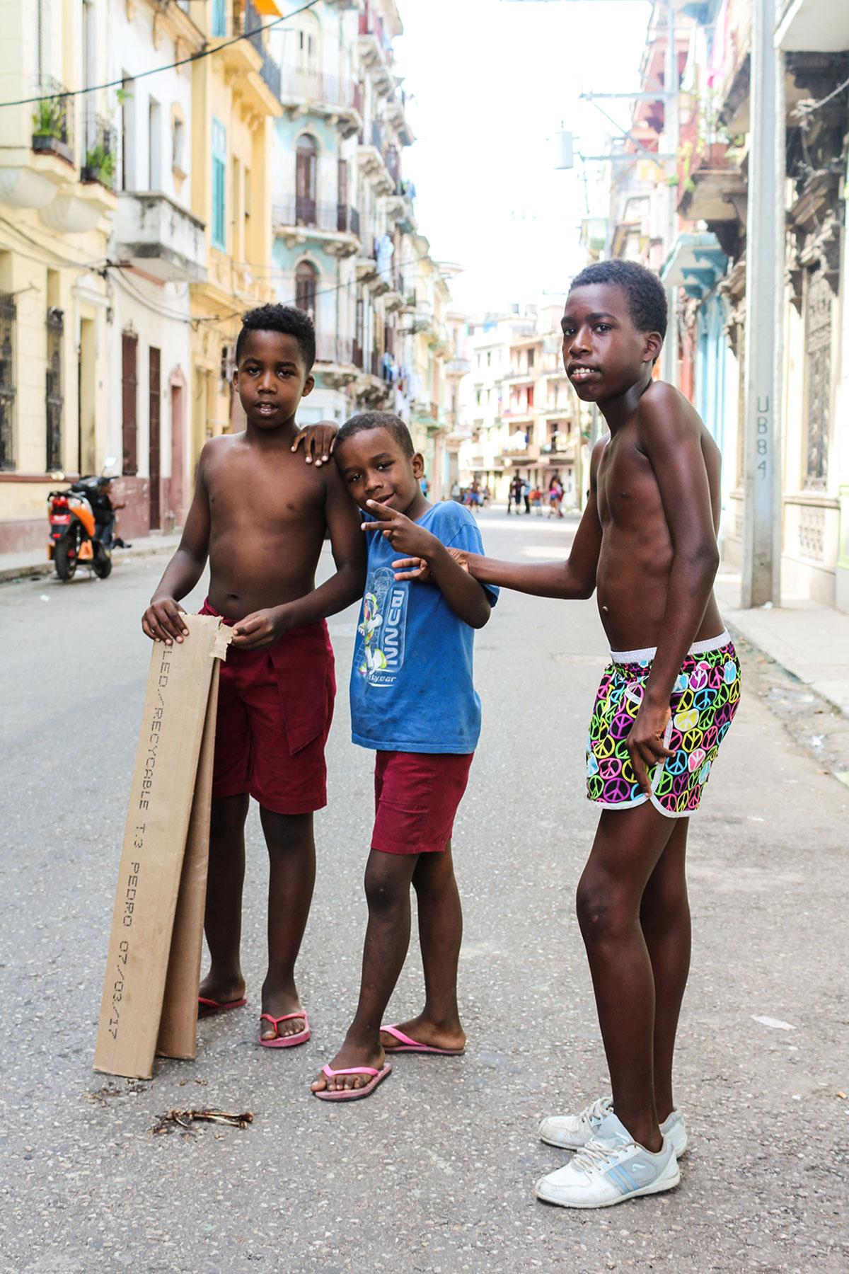 Boys posing for photo