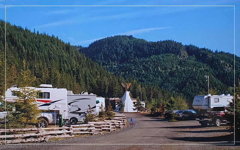 RV park and yurt in Canada