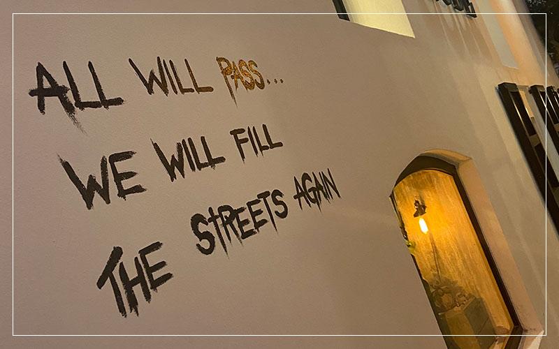 Street art writing