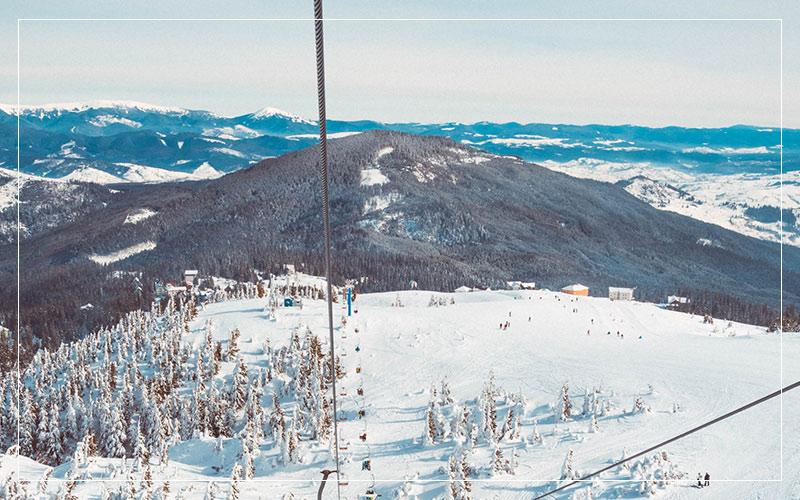 Incredible view on ski lifts