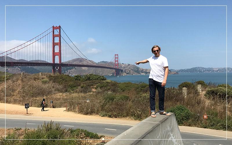 Richard Stuttle at the Golden Gate Bridge