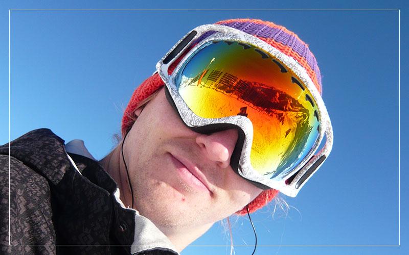 Richard Stuttle snowboard selfie