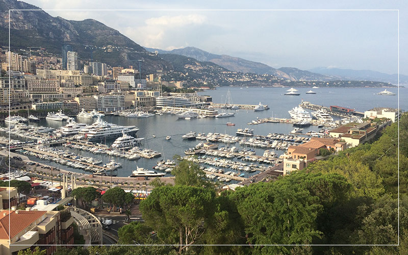 Monaco bay with boats