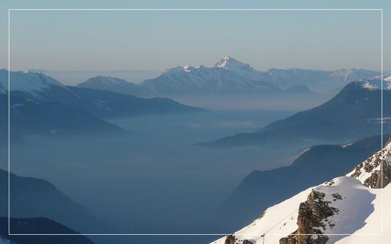Foggy mist inside The Valleys