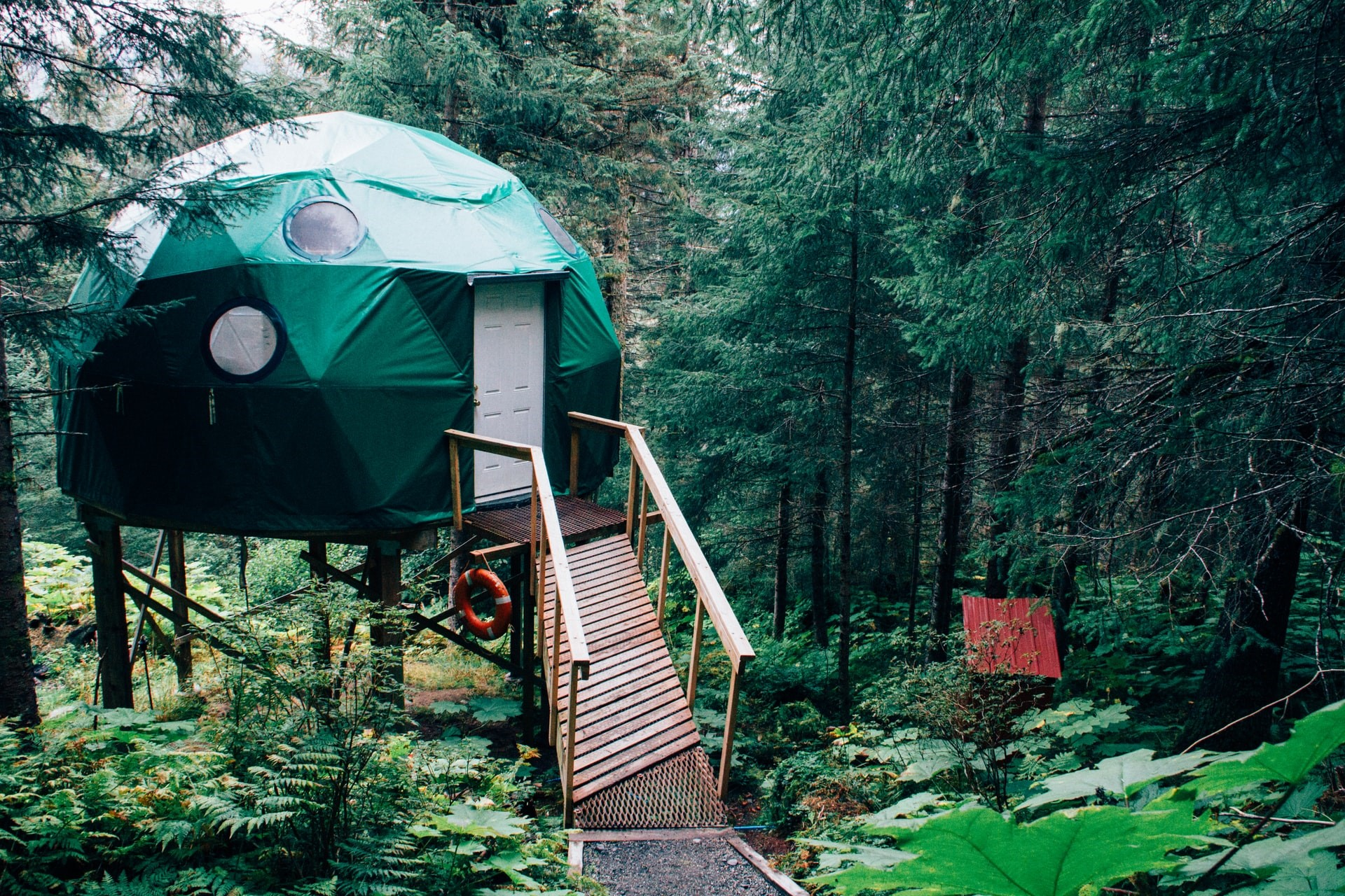 Yurt in the woods USA
