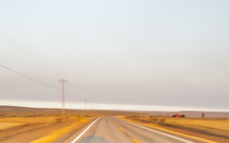 Open road in the daytime