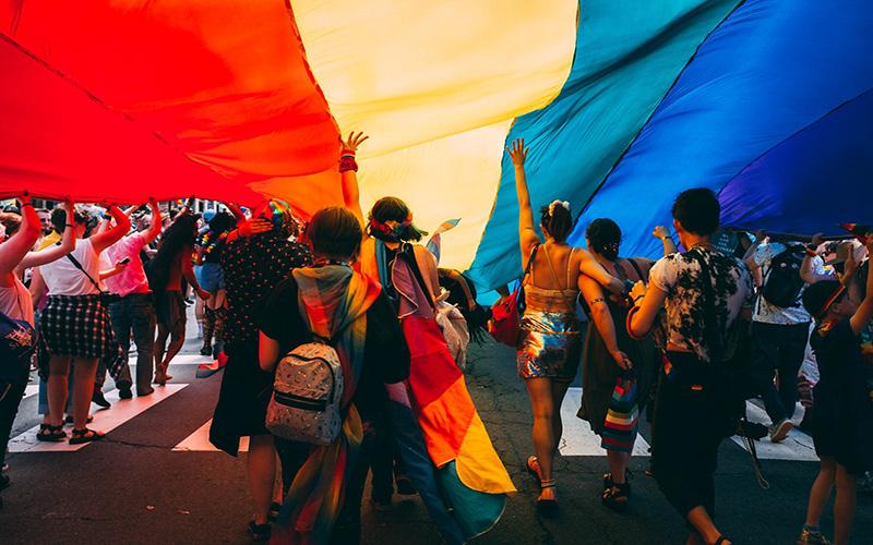 Washington Pride parade and flag
