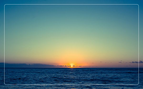 Amazing sunset view over ocean