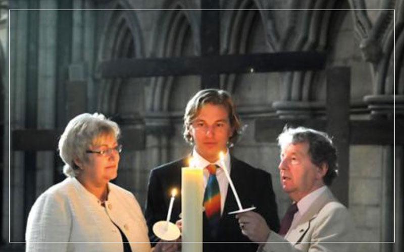 Richard Stuttle, Marjorie Marks-Stuttle and Alan Stuttle remembering Caroline Stuttle